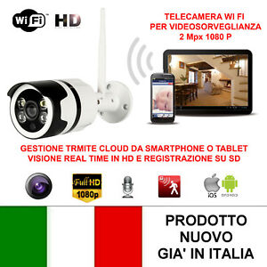 TELECAMERA-VIDEOSORVEGLIANZA-IP-HD-1080P-WIRELESS-2-MPX-ESTERNO-CLOUD-WIFI-LED