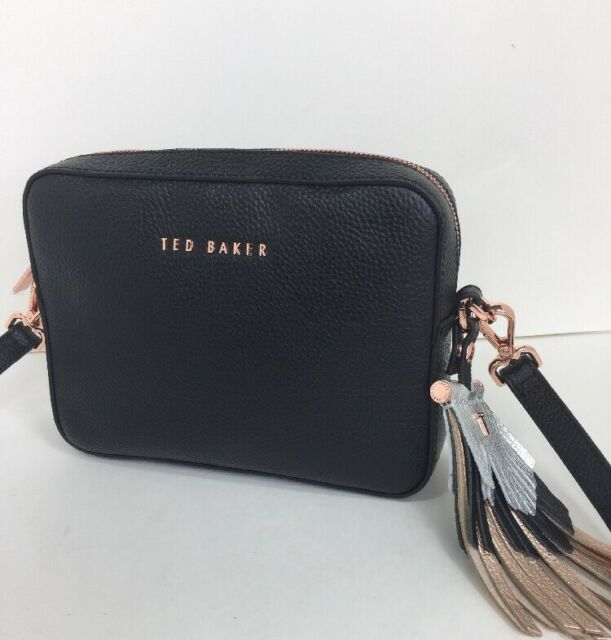 c23cc06f3a Frequently bought together. Ted Baker Darwina Black Crossbody with fringed  tassel Leather Rose Gold Hardware