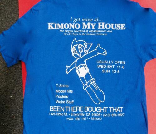 LENSMAN SINGLE STITCH E.Doc Smith 2 SIDES Medium  VINTAGE ANIME Kimono My House
