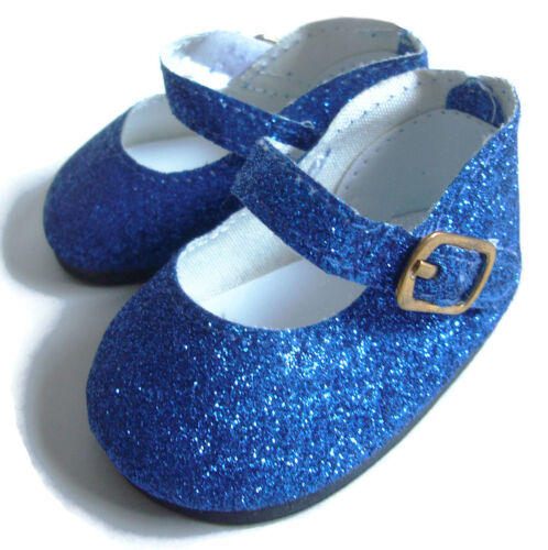 """Royal Blue Glitter Shoes for 18/"""" American Girl Doll Clothes Quality Accessories"""
