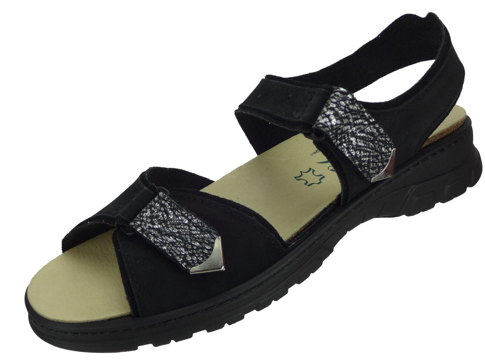 Algemare Damen Trekking Sandale NubukLeder Algen-Kork Fußbett waschbar 6478_0805  | Vorzugspreis