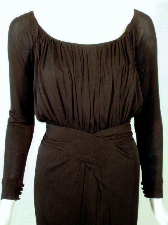 CEIL CHAPMAN Vintage Black Long Sleeve Jersey Coc… - image 5