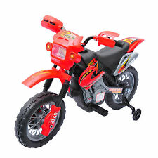 6V Kids Ride On Motorcycle Battery Powered Electric Bike Car Toy w/ 4 Wheels