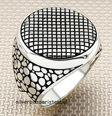 Details about  /925 Sterling Silver Turkish Handmade Turquoise Stone Men/'s Luxury Ring All Sizes