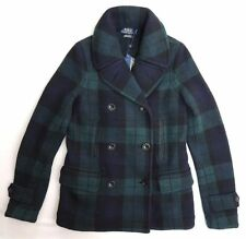 $1,295.00 Polo Ralph Lauren Men's Green Blackwatch LAMBWOOL PeaCoat/ JACKET : XL
