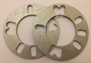 2 X 5mm ALLOY WHEEL SPACERS SHIMS SPACER UNIVERSAL FOR CITROEN 5X108 M12B