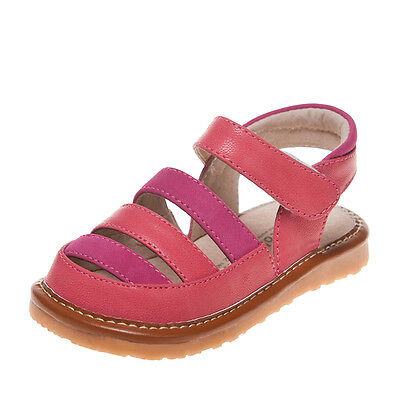 Girls' Infant Toddler Childrens Kids Squeaky Shoes Coral&Hot Pink Summer Sandals
