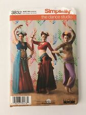 d3fa85a27c6 Belly Dancer Size 6 to 12 Sewing Pattern Simplicity 3832 Read Full Listing