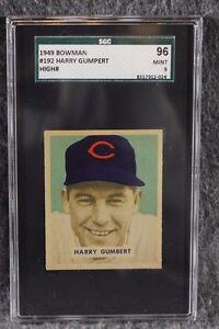 Details About Vintage Baseball Card 1949 Bowman Mlb Sgc 96 Mint 9 Harry Grumpert Highest Ever