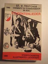 St.V. Teutonia Chemnitz zu Gummersbach im BDIC - Studentenlieder - 1980 Kassette