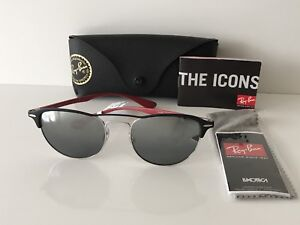 5d07aae01e7 NWB  188 Ray-Ban Sunglasses RB 3596 Black Red Frame Grey Silver ...