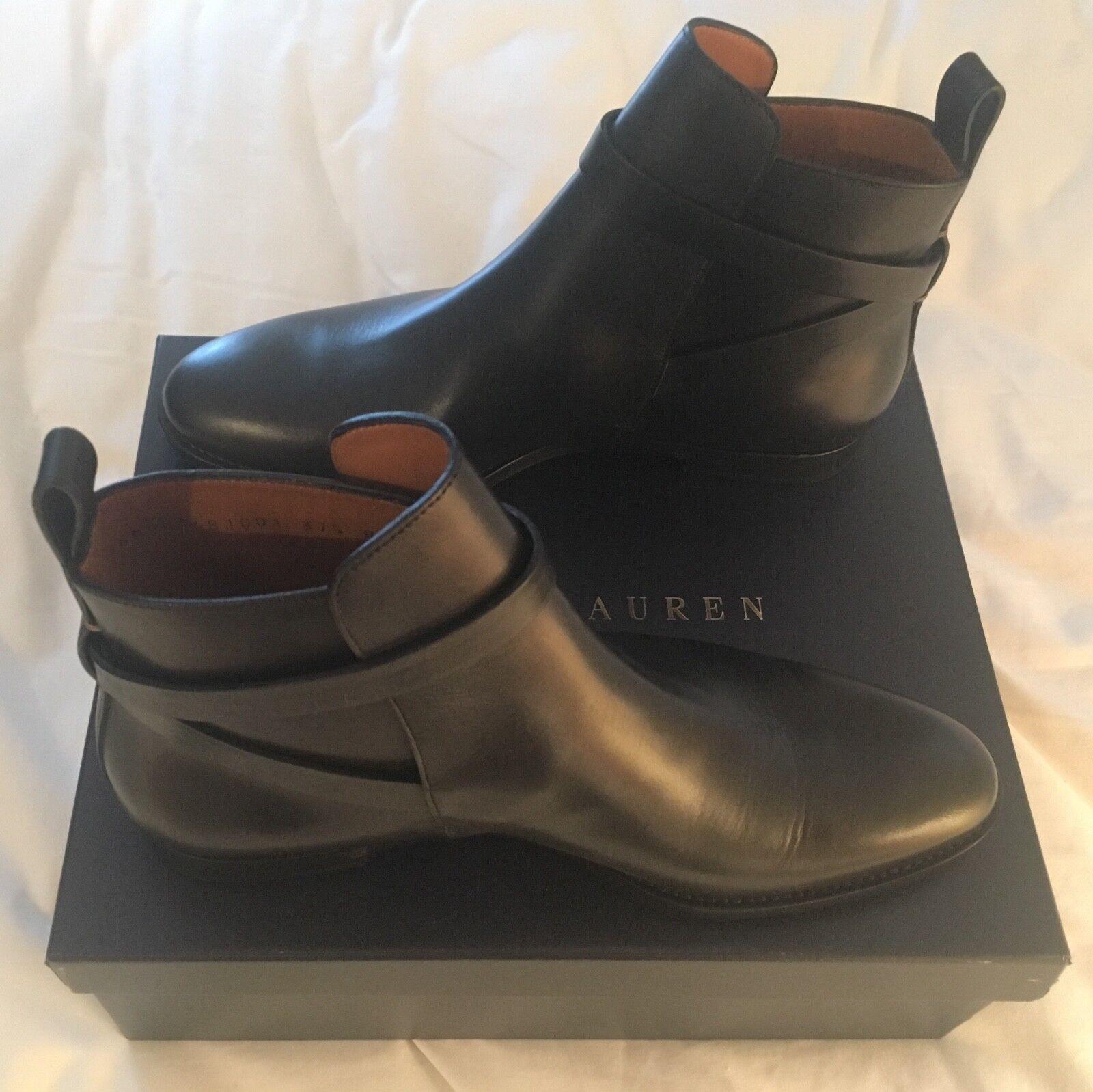 BRAND NEW   Ralph Lauren Salem Leather Boot Size 7.5