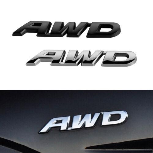 3D AWD Chrome Metal Body Emblem Car Sticker Badge 4 Wheel Drive SUV Off Road