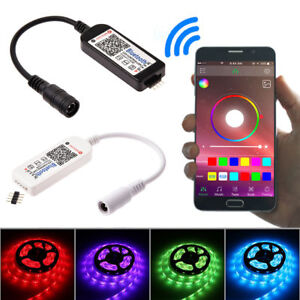 Mini-Bluetooth-Wifi-LED-Controller-amp-Remote-For-5050-3528-RGB-RGBW-LED-Strip-Light