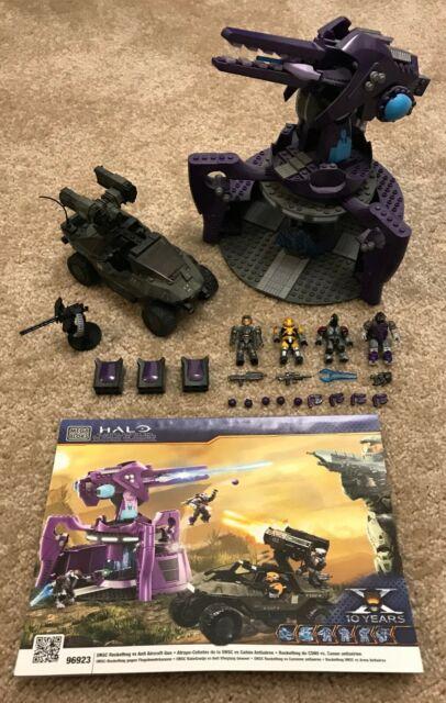Mega Bloks Halo UNSC Rockethog Warthog vs Covenant Anti-Aircraft Gun Set 96923