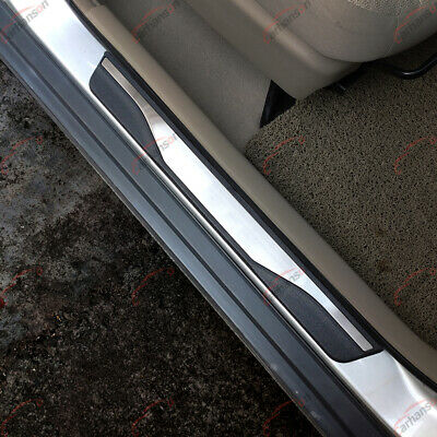 For Ford Escape Accessories 2014-2019 Steel Door Sill Scuff Plate Door Sill Protector Guard uaCover Trim 4pcs