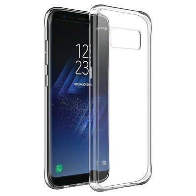 Samsung Galaxy S8/S8 PLUS Transparent Case Crystal Clear Soft Thin Flexible TPU