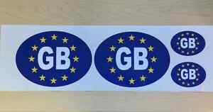 set of 4 GB sticker sign Blue with stars oval 2Large amp 2Small 18x13cm amp 8x6cm - <span itemprop=availableAtOrFrom>Cambridge, United Kingdom</span> - set of 4 GB sticker sign Blue with stars oval 2Large amp 2Small 18x13cm amp 8x6cm - Cambridge, United Kingdom