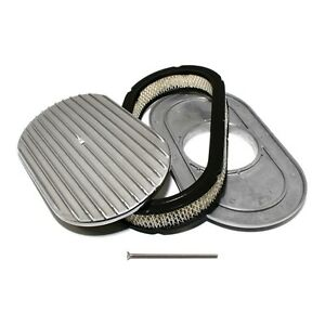 Retro-Oval-Air-Cleaner-Assembly-Kit-15-Full-Finned-Polished-Aluminum-w-Element