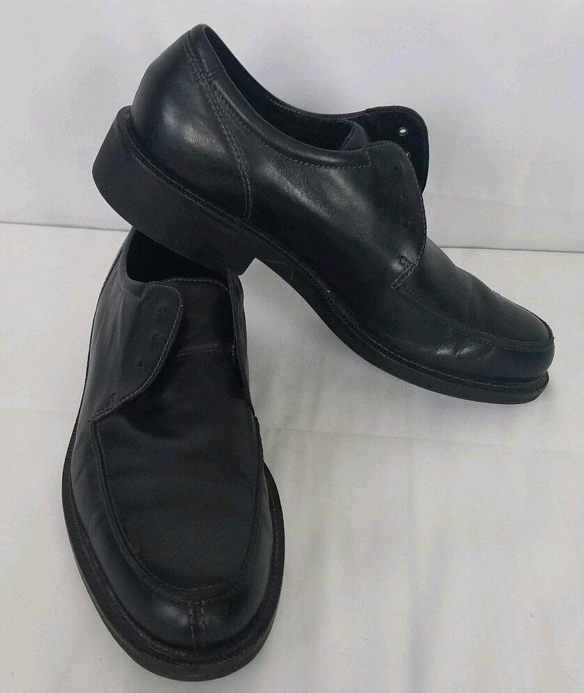 Para hombres Cuero Negro ECCO Windsor Delantal Oxfords tamaño nos 9