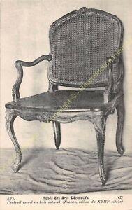 Postcard-Arts-Decorative-Chair-Furniture-Caned-Wood-XVIII-Edit-ND-395