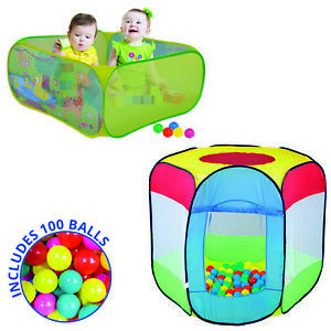 Kids Tent Pop Up Fun Play Playhouse For Girls Boys Baby Children Ball Pit Indoor