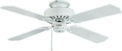 "Fantasia 110095 42/"" Belaire White Ceiling Fan With Matt White And Cane Blades"