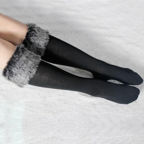 2019 Womens Liners Socks Boot Furry Cuff Leg Warmers Faux Fur Fluffy Stocking