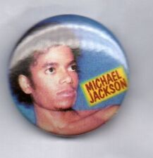 MICHAEL JACKSON BUTTON BADGE 80s 90s KING OF POP 25mm Pin THRILLER BAD DANGEROUS