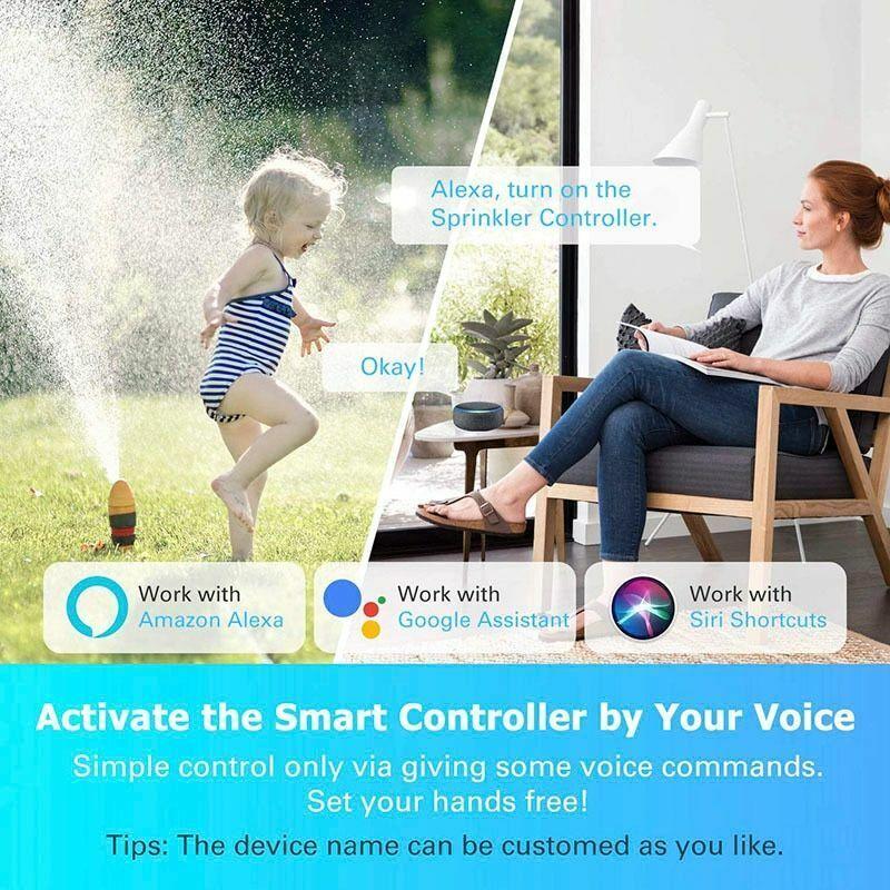 Garden Smart Watering Timer Irrigation Controller Valve WIFI Water System