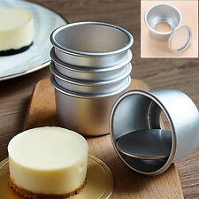 5Pcs 2.5'' Mini Cake Mould Pan Removable Bottom Pudding Mold DIY Baking Tools