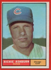 1961-Topps-88-Richie-Ashburn-NEAR-MINT-Hall-of-Famer-Chicago-Cubs-FREE-SHIPPING