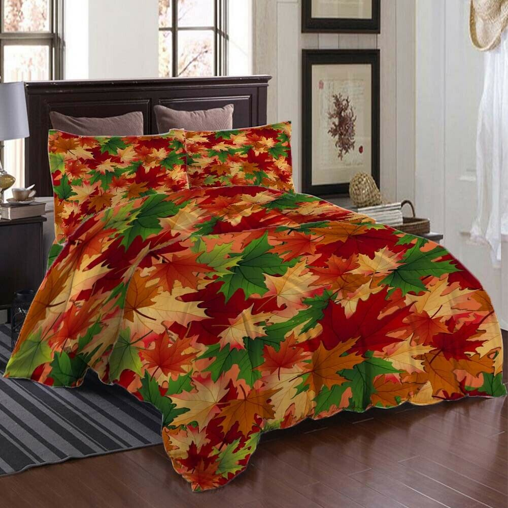Mixed Nice Leaves 3D Printing Duvet Quilt Doona Covers Pillow Case Bedding Sets