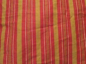 RALPH-LAUREN-CHOOSE-CALIFORNIA-KING-or-KING-Bed-Skirt-EDMONTON-RED-GOLD-STRIPE