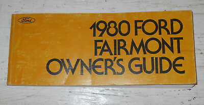OWNER'S GUIDE Fairmont MANUAL ORIGINAL Ford 1980 8wgxqFF
