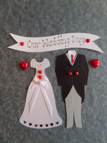 BRIDE /& GROOM WEDDING EMBELLISHMENTS *CHOICES* WEDDING CARD MAKING SCRAPBOOKING