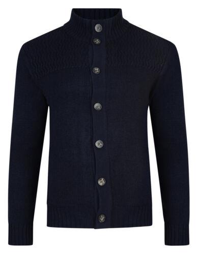 Kensington neuf hommes cardigan boutonné devant tricot mélange laine pull-over sweater