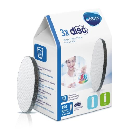 BRITA FILTRO microdisc pacco 3er filtro acqua contenuto DISC 3 pezzi