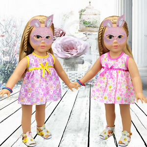 Fashion Handmade Floral Clothes Dress for 18 inch/45cm Generic Doll Party Gift.