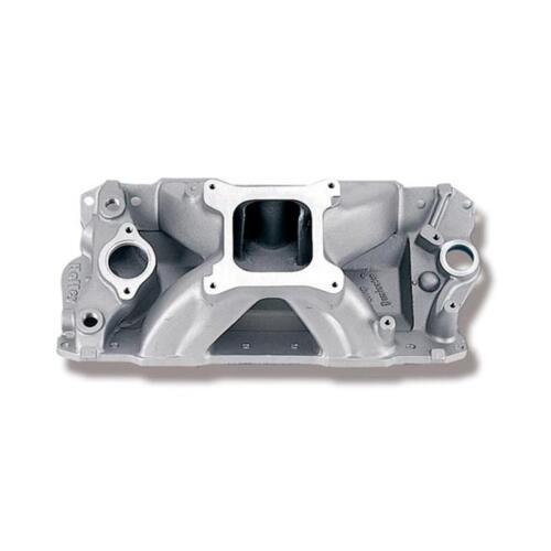Holley Intake Manifold 300-25; Strip Dominator Satin Aluminum for Chevy SBC