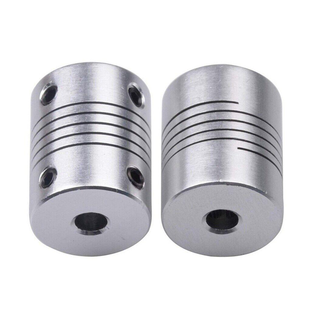 2 Psc 5 6.35 mm Lightweight Locking Shaft Coupler Motor Encoder Lock Shaft