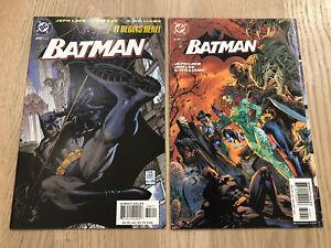 Batman #608 & 619 1st Print Hush Jim Lee DC Comics Rare Lot Catwoman Variant Ivy