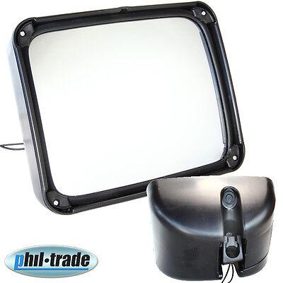 beheizbarer Spiegel für Stapler LKW Transporter Bus 17 x 21 cm Zusatzspiegel NEU