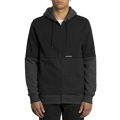 Volcom Single Stone Division Ziphdy Black Men's Sweatshirt Jacket with Hood | eBay