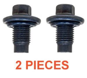 (2) 14mm 1.50 13mm Hex Drain Plugs W/ Rubber Inset Gaskets RPL F6TZ 6730-BA