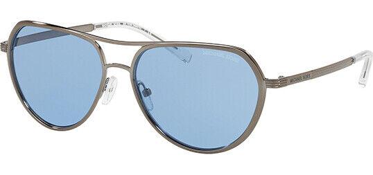Michael Kors Mk1036 121372 Madrid Silver Aviator Sunglasses