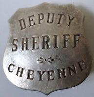 Deputy Sheriff Cheyenne Old Western Badge Pin Bw-33