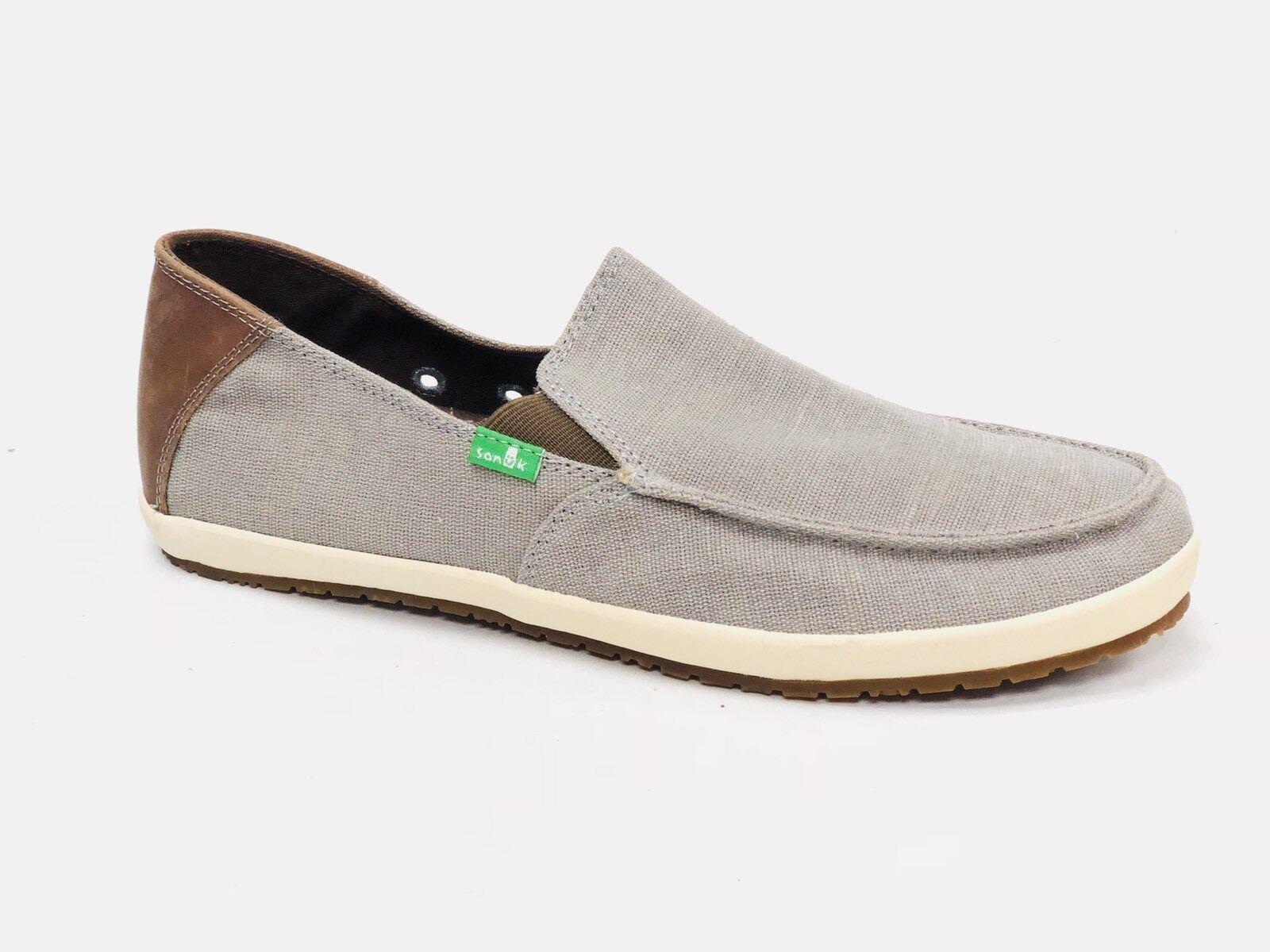 SANUK CASA Vintage GREY  BOAT CANVAS SHOES MENS slip on loafer shoes SMF11011 NEW