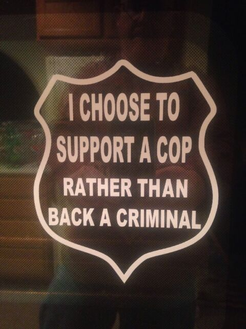 Choose To Support A Cop Police Dept Law Enforcement Lives Matter Decal Sticker