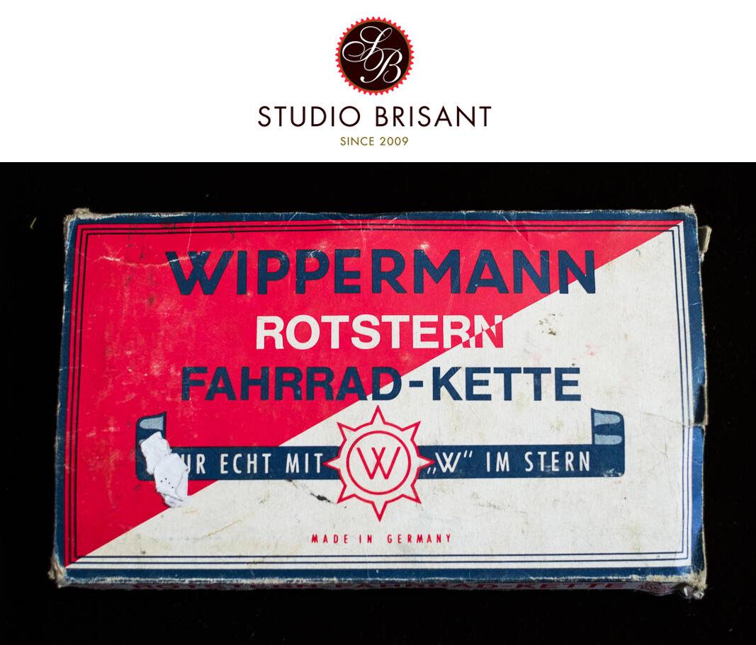 Nuevo viejo stock Wippermann rojo Star cadena de 1 2  X 1 8  112 Enlaces Cadena Bicicleta Vintage